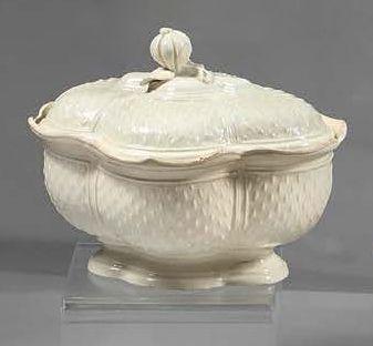 Manufacture du PONT-AUX-CHOUX à Paris Sugar bowl covered in an oblong shape with...