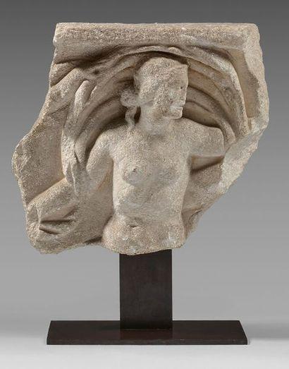 Fragment de sarcophage représentant Vénus...