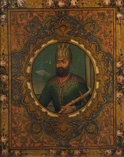 Portrait du roi Nader Shâh (r. 1736 - 1747),...