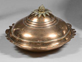 Légumier en cuivre, sahan, Empire ottoman,...