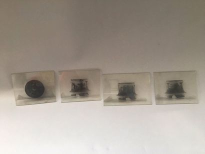 Set of glass plate negatives representing archaeological objects from the collection...