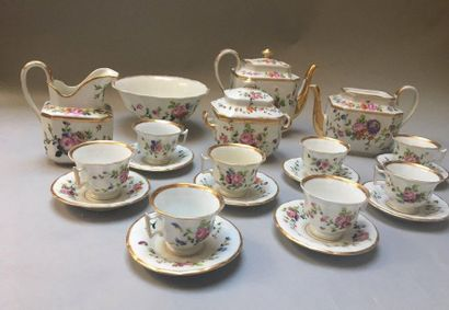 PARIS Service à thé composé d'une grande théière, d'une verseuse (sans son couvercle),...