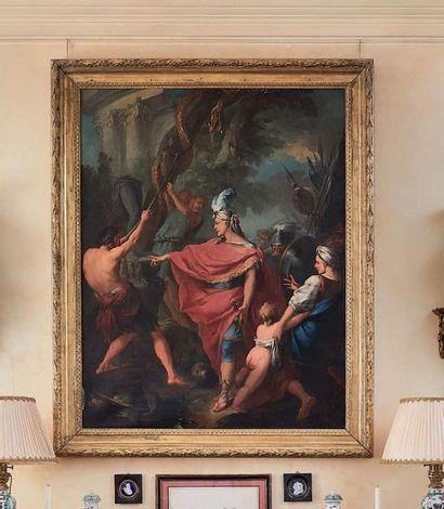 Entourage de Jean-Baptiste-Marie PIERRE (1713-1789) Ezéchias et la destruction du...
