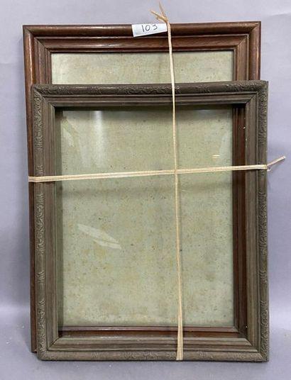 Moulded oak stick  nineteenth century  A...
