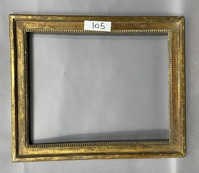 Moulded oak frame, formerly gilded and decorated...