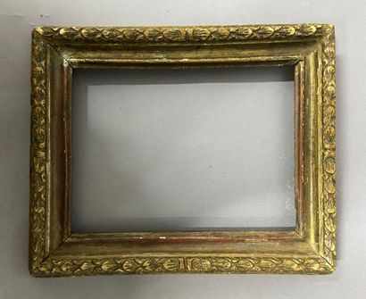 Moulded wooden frame, formerly gilded with...