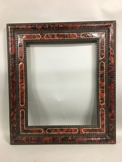 Wooden frame, fake tortoiseshell and bone...
