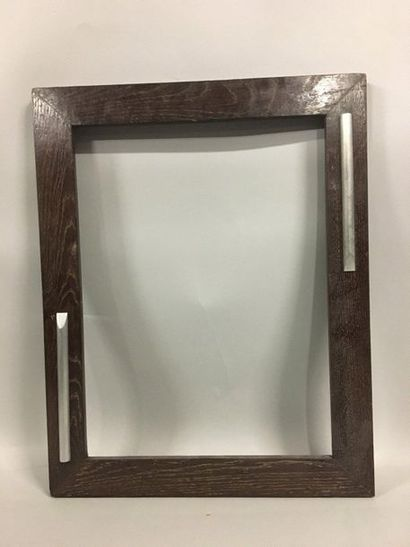 Palm wood frame and decorative metal elements....