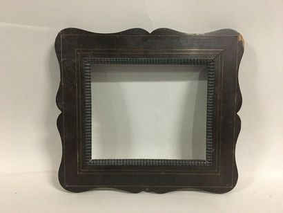 Wooden frame and rosewood veneer decorated...
