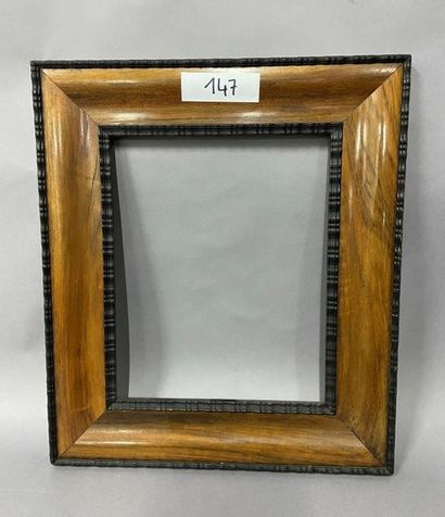 Gentle'' frame in wood and satin veneer and...