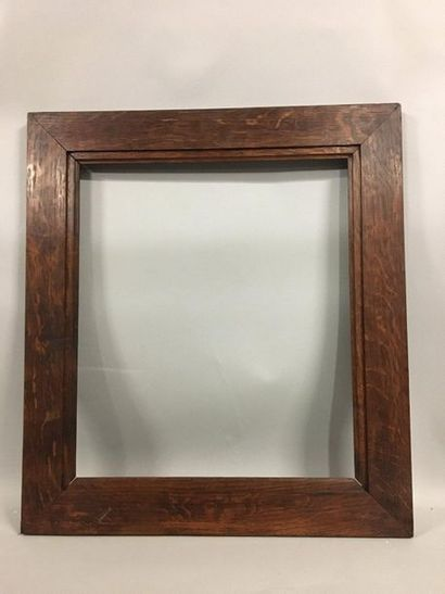 Pair of moulded natural oak frames with flat...