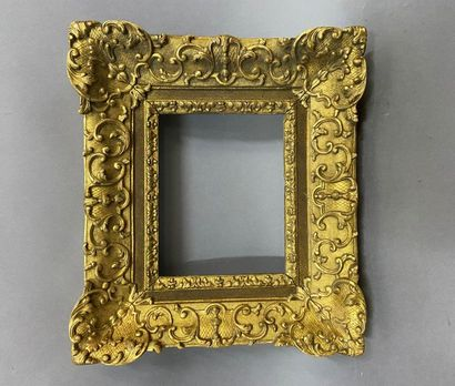 Sculpted and gilded oak frame with beautiful Bérain decoration  Louis XIV period...
