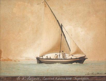 """Antoine ROUX fils ainé (1799-1872) """"Le Saint Lazare Laurent CAMISSON propriétaire""""...."""