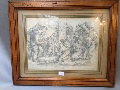 Ecole FRANCAISE du XVIIème siècle L'Adoration...