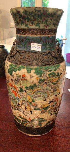 Vase décor de dragon  H : 37 cm Vendu en...