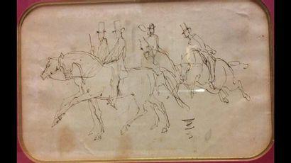 Attribué à Constantin GUYS (1802-1892) Cavaliers...