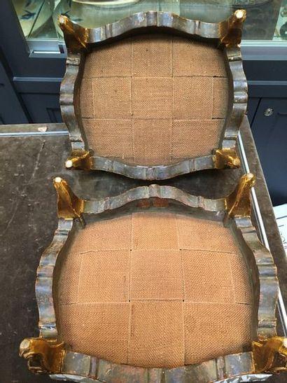 Deux tabourets de pied  Style Louis XV Vendu en l'état