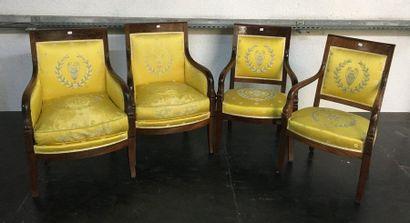 Deux bergères et deux fauteuils  Epoque...