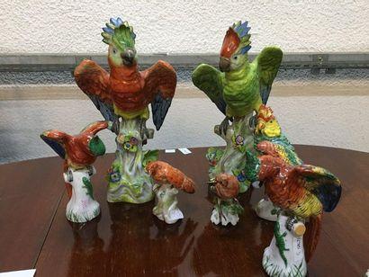 Oiseaux en porcelaine Vendu en l'état