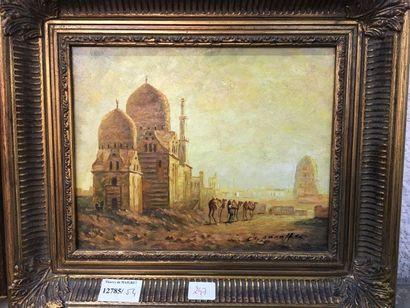 Ecole orientaliste moderne : Deux vues