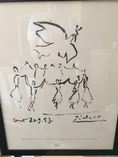 D'après Picasso  Danse de la paix  Reproduction...