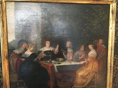 Ecole Flamande vers 1700, suiveur de Frans FRANCKEN