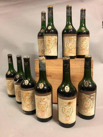 10 bouteilles CH. GRUAUD-LAROSE, 2° cru Saint-Julien...
