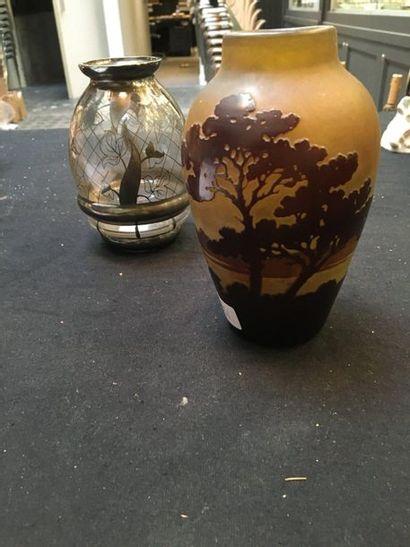 Petit vase portant une signature Gallé  Hauteur...