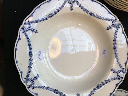 Partie de service en porcelaine bleu MINTONS...