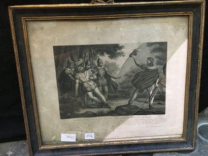 Lot : deux gravures Guillaume Tell réclame...