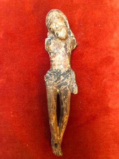 Christ en bois (accident manque les bras)