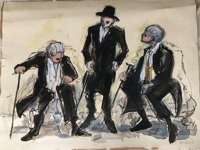 Trois homme au dancefloor  DALBLEZ