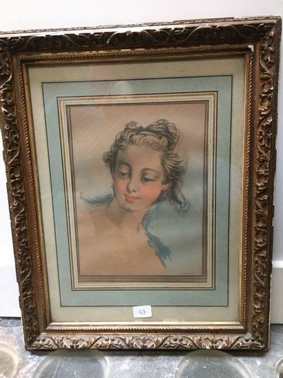 Portrait de femme d'après BOUCHER, gravure...