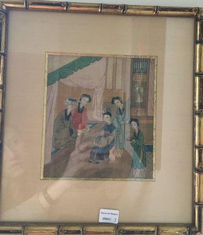 Deux miniatures persannes  17x15 cm