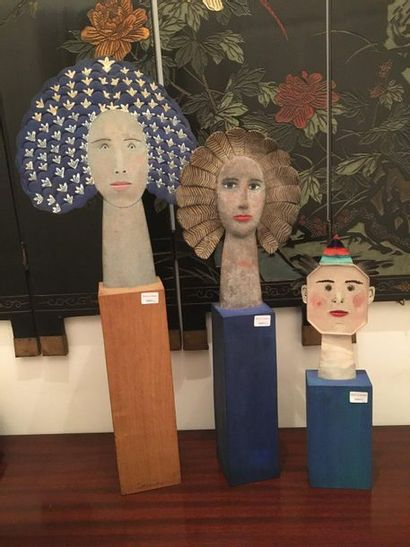 Sculpture : Trois visages