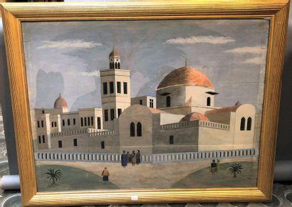 Premeneurs devant une architecture du Moyen...