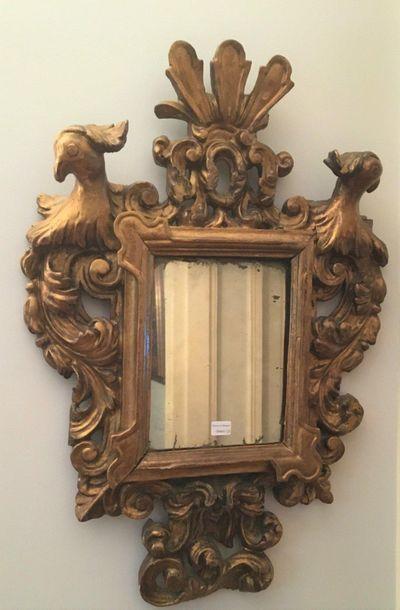 Miroir en bois doré  Italie  Vers 1800  Hauteur...