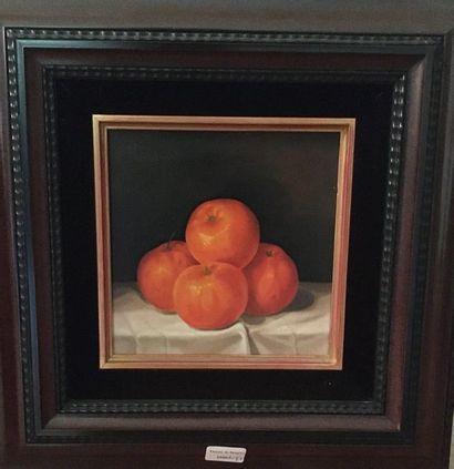 Quatre oranges  HSP  15x15cm