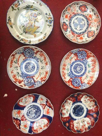 3 assiettes en porcelaine asiatique décor...