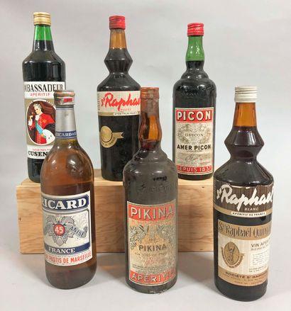 6 bouteilles APERITIF (Picon, Pikina, St....