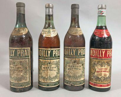 4 bouteilles NOILLY PRAT (3 blancs, 1 rouge,...