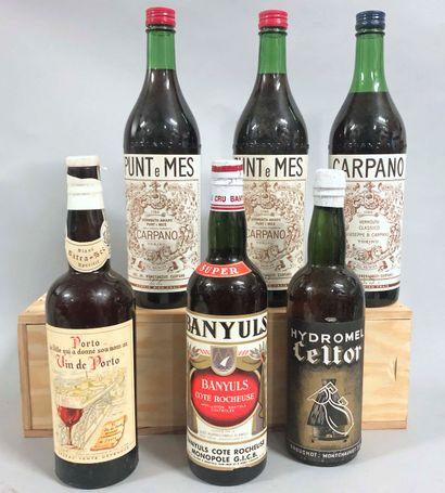 6 bouteilles APERITIF (Vermonth Divers)