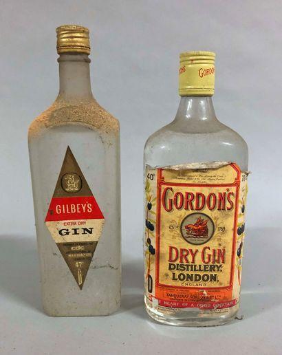 2 bouteilles GIN (Gordon's, Gilbey's)