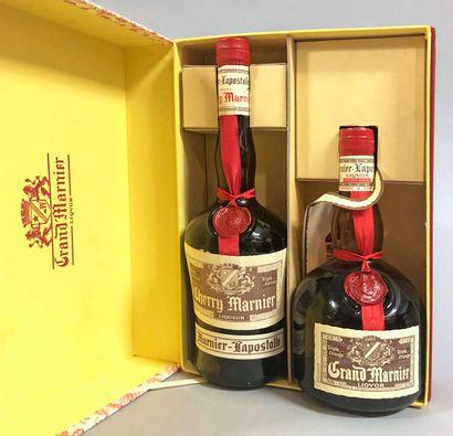 2 bouteilles GRAND MARNIER (en coffret, dont...
