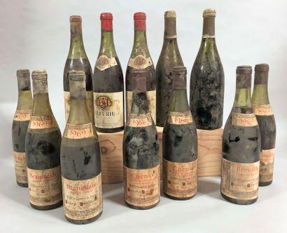 12 bouteilles BEAUJOLAIS (2 Hospices de Moulin-à-Vent...
