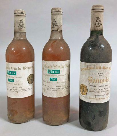 3 bouteilles BANYULS Parcé & fils (1 V.V....