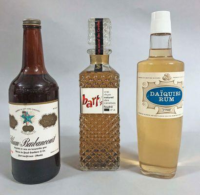 3 bouteilles RHUM