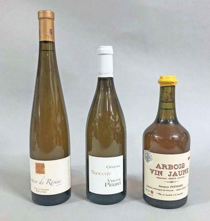 3 bouteilles BLANC DIVERS (1 Viogner de Rasine...