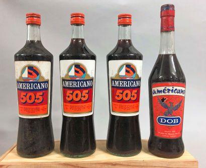 4 bouteilles AMERICANO