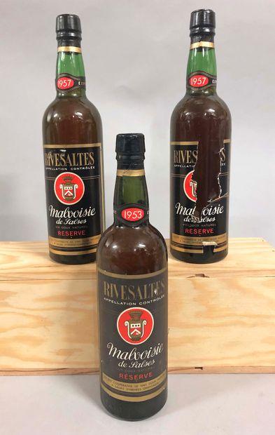 3 bouteilles RIVESALTES